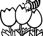 Coloriage et dessins gratuit Abeilles 11 à imprimer