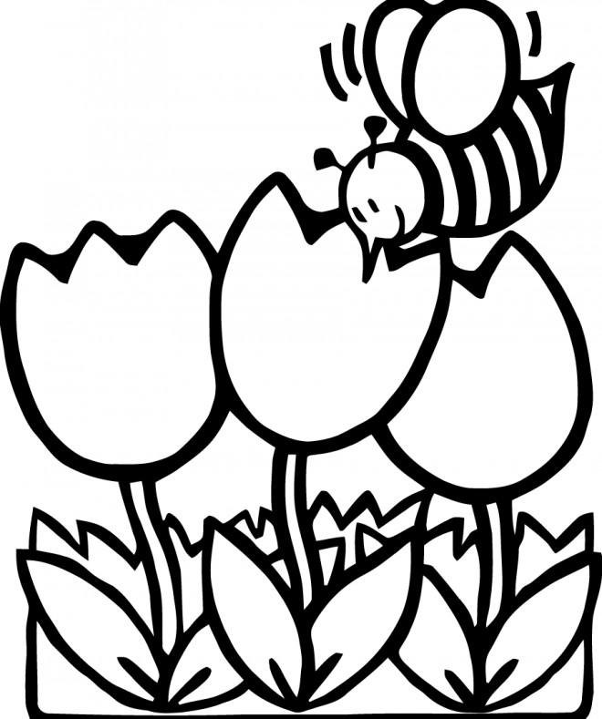 Coloriage et dessins gratuits Abeilles 11 à imprimer