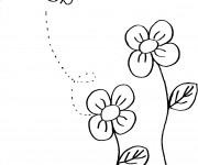 Coloriage et dessins gratuit Abeilles 12 à imprimer