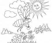 Coloriage et dessins gratuit Abeilles 18 à imprimer