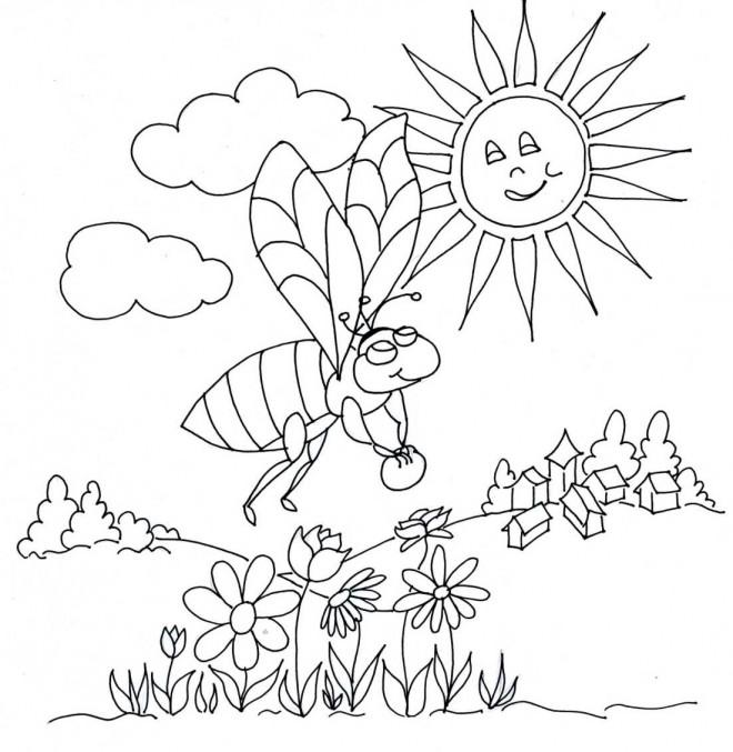 Coloriage et dessins gratuits Abeilles 18 à imprimer