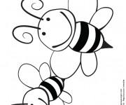 Coloriage et dessins gratuit Abeilles à colorier à imprimer