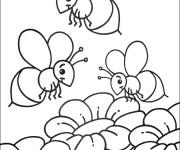 Coloriage et dessins gratuit Abeilles à décorer à imprimer
