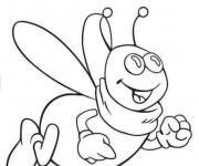 Coloriage Abeilles souriante dessin animé