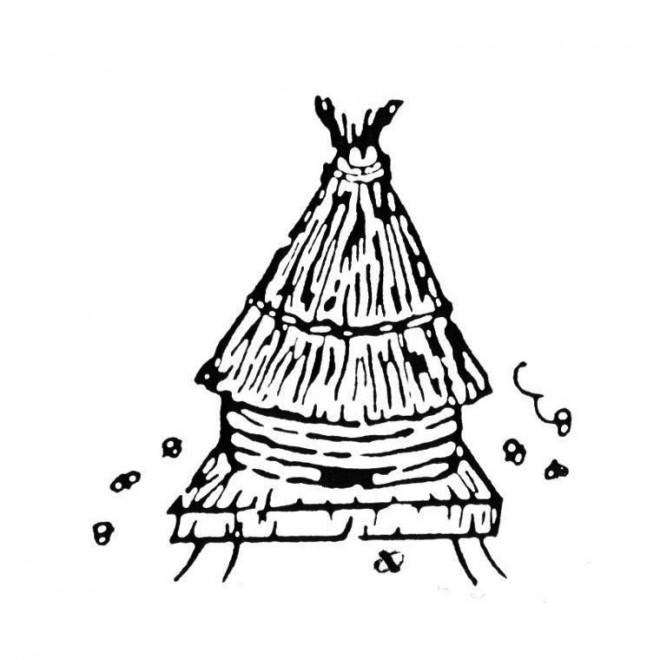 Coloriage et dessins gratuits La Ruche d'Abeilles dans la nature à imprimer