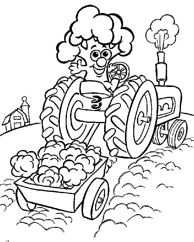 Coloriage et dessins gratuits Agriculture humoristique à imprimer
