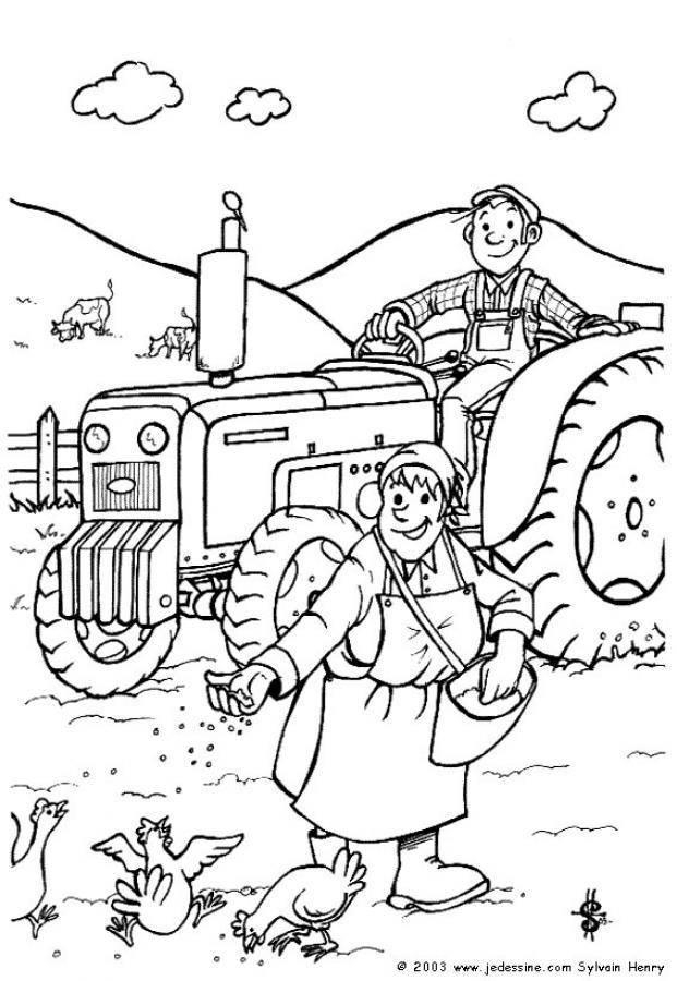 Coloriage et dessins gratuits Activités agricoles à imprimer