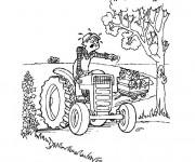 Coloriage et dessins gratuit Agriculteur malheureux à imprimer
