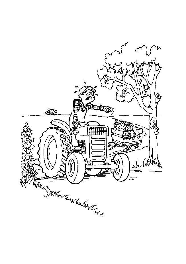 Coloriage et dessins gratuits Agriculteur malheureux à imprimer