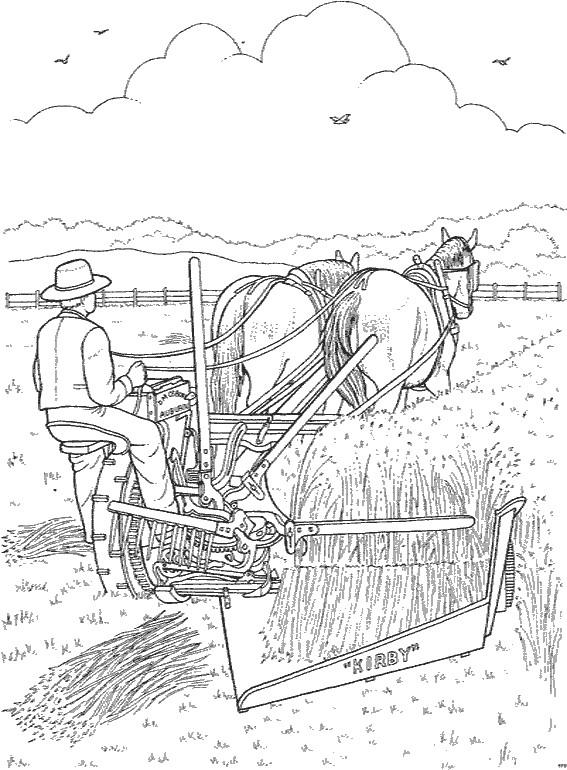 Coloriage et dessins gratuits Agriculteur qui récolte à imprimer
