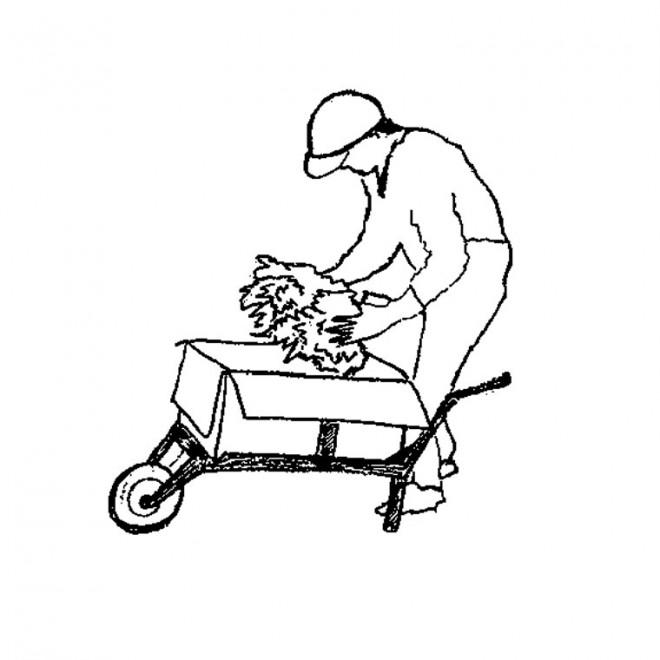 Coloriage et dessins gratuits Agriculteur qui travaille à imprimer