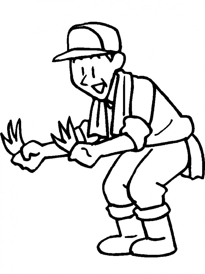 Coloriage et dessins gratuits Agriculteur travailleur à imprimer