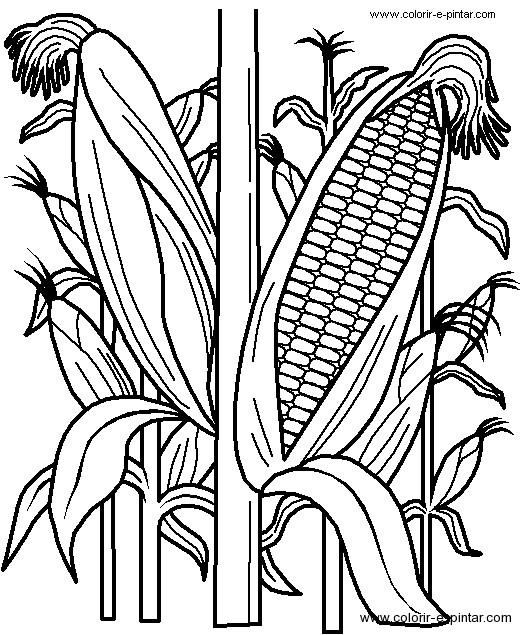 Coloriage et dessins gratuits Agriculture en noir à imprimer