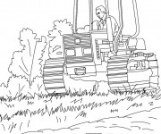 Coloriage Agriculture Ensileuse