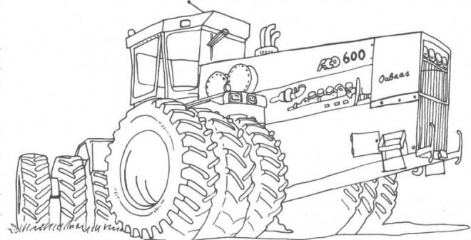 Coloriage et dessins gratuits Agriculture Ensileuse à découper à imprimer