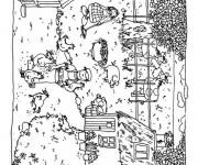 Coloriage et dessins gratuit Agriculture Ferme à imprimer