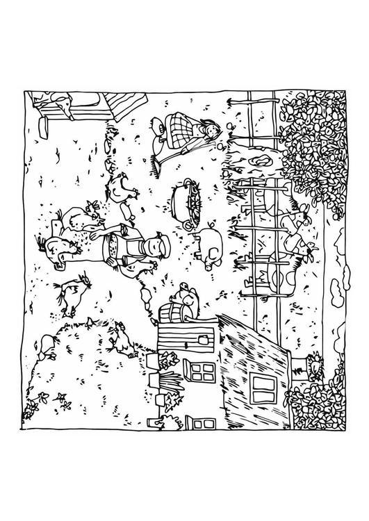 Coloriage et dessins gratuits Agriculture Ferme à imprimer