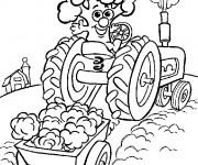 Coloriage Agriculture humoristique