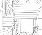 Coloriage et dessins gratuit Agriculture Le Stable à imprimer