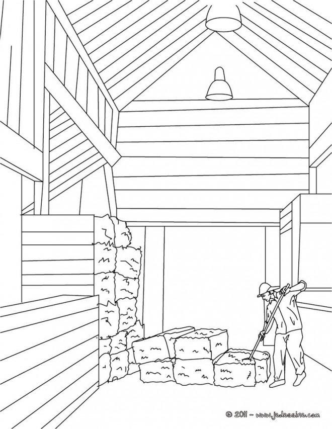 Coloriage et dessins gratuits Agriculture Le Stable à imprimer