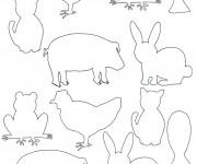 Coloriage et dessins gratuit ANimaux de Ferme à compléter à imprimer