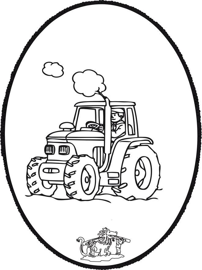 Coloriage et dessins gratuits Tracteur encerclé à imprimer