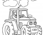 Coloriage et dessins gratuit Tracteur tout puissant à imprimer