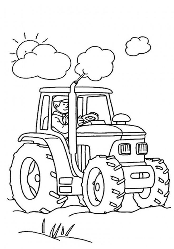 Coloriage et dessins gratuits Tracteur tout puissant à imprimer