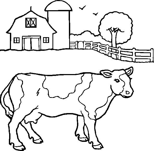Coloriage et dessins gratuits Vache de Ferme à imprimer