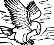 Coloriage dessin  Aigle 19