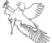 Coloriage dessin  Aigle 20
