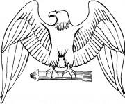 Coloriage dessin  Aigle 6