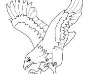 Coloriage dessin  Aigle 8