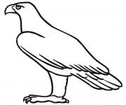 Coloriage dessin  Aigle 9