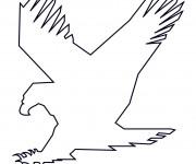 Coloriage Aigle à compléter