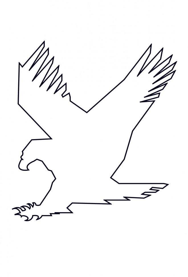 Coloriage et dessins gratuits Aigle à compléter à imprimer