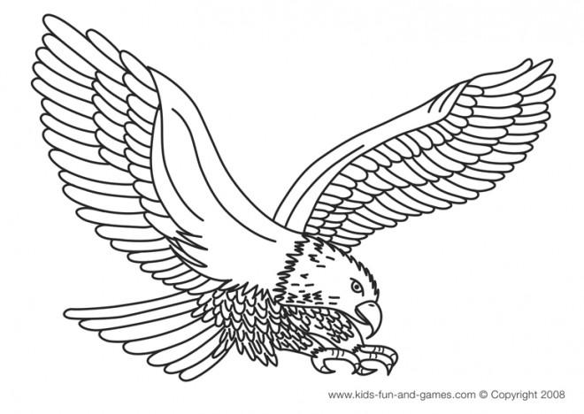 Coloriage et dessins gratuits Aigle à découper à imprimer