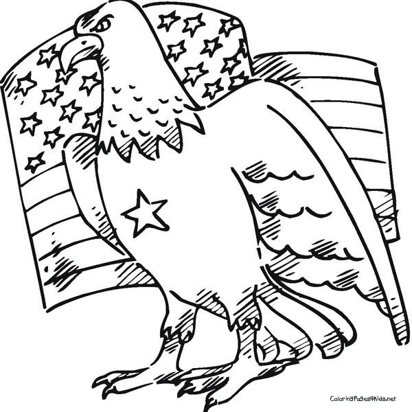 Coloriage et dessins gratuits Aigle Américain à imprimer