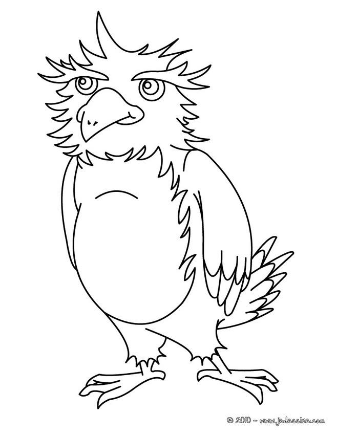 Coloriage et dessins gratuits Aigle Cartoon à imprimer