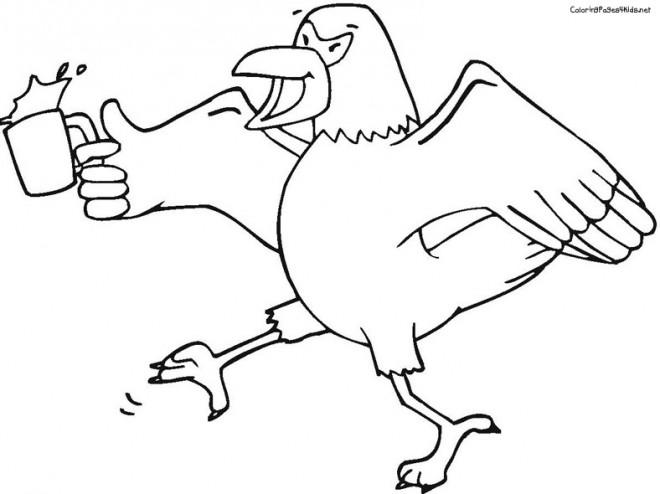 Coloriage et dessins gratuits Aigle drôle à imprimer