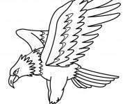 Coloriage et dessins gratuit Aigle en chasse à imprimer