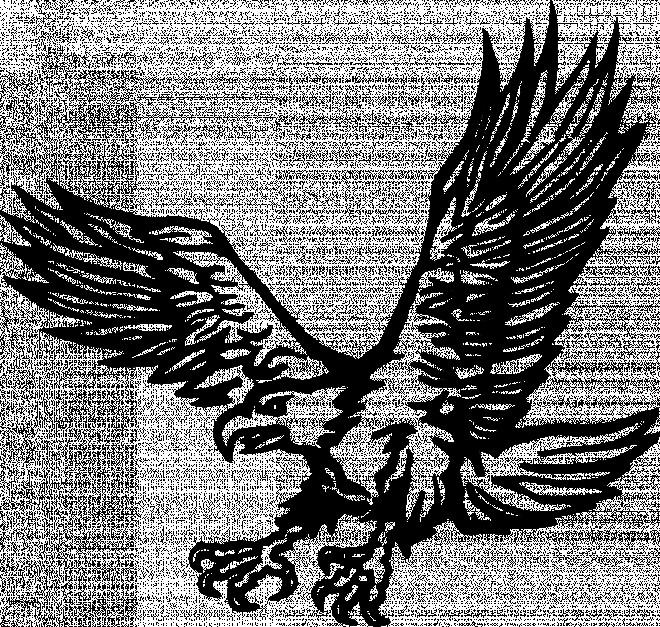 Coloriage et dessins gratuits Aigle en noir à imprimer