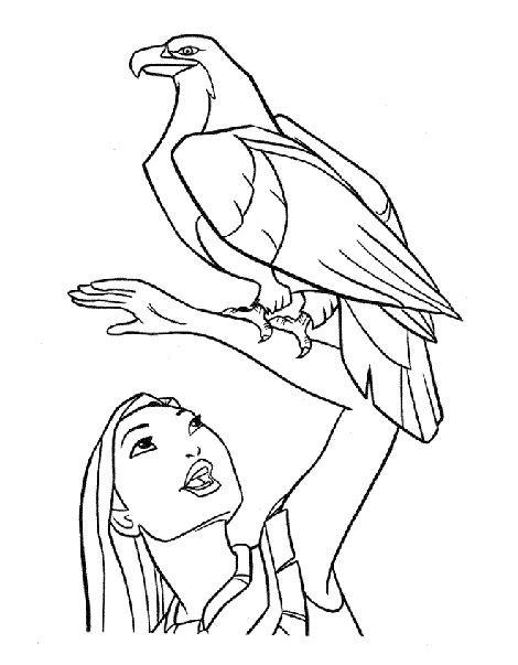 Coloriage et dessins gratuits Aigle et maître à imprimer