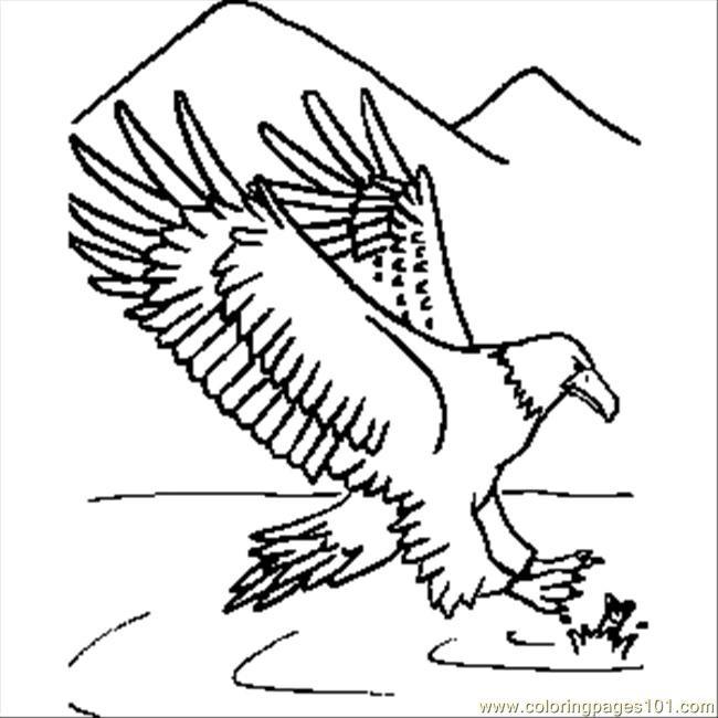 Coloriage et dessins gratuits Aigle et poisson à imprimer