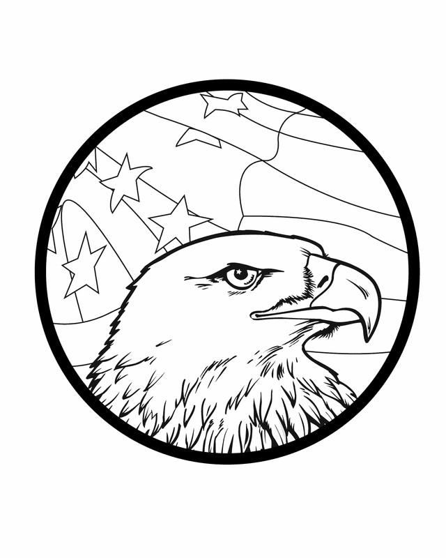 Coloriage et dessins gratuits Aigle Icon américain à imprimer