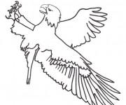 Coloriage et dessins gratuit Aigle maternelle à imprimer
