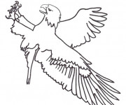 Coloriage Aigle maternelle