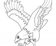 Coloriage et dessins gratuit Aigle qui ouvre ses ailes à imprimer
