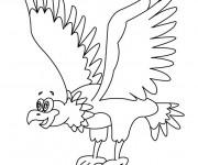 Coloriage et dessins gratuit Aigle rigolo à imprimer