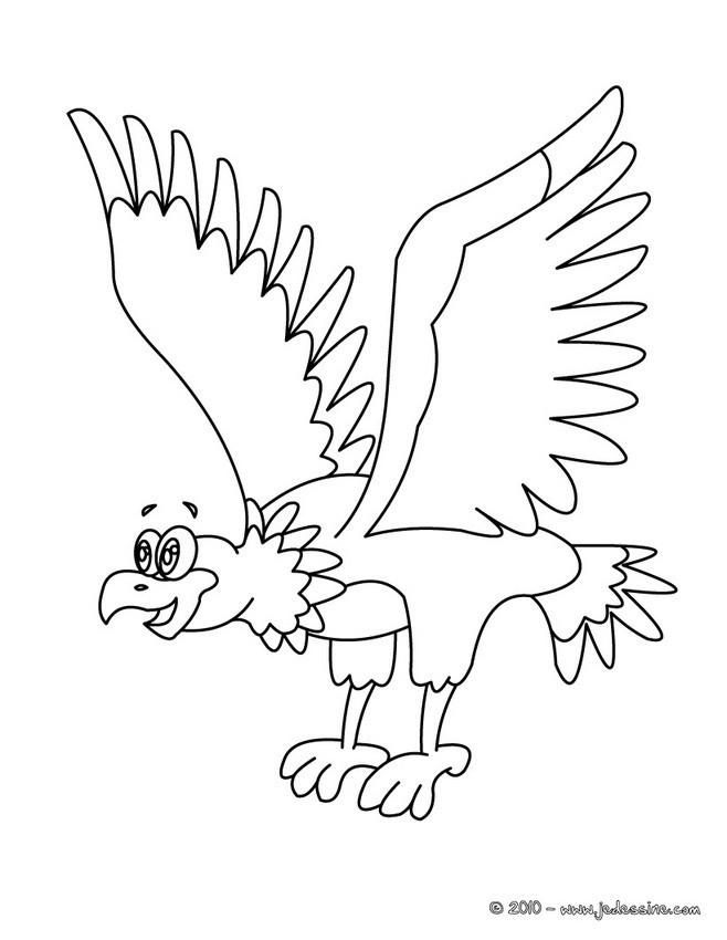 Coloriage et dessins gratuits Aigle rigolo à imprimer